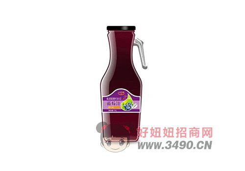 潼博元乐融蓝莓汁饮料1.5L