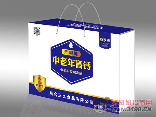 尊享版无蔗糖中老年高钙复合蛋白饮品250mlx12盒