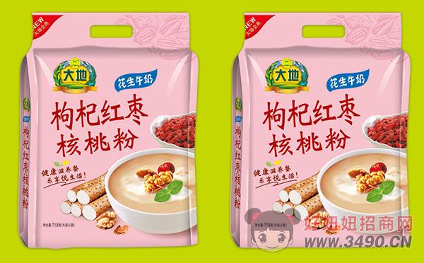 大地花生牛奶枸杞红枣核桃粉718g