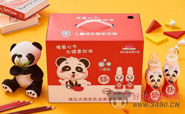 爱心牛宝宝小贝红枣味儿童成长型乳饮品200ml×20瓶礼盒