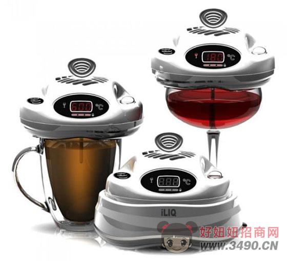iLIQ温度感应饮料冷却装置可确保用户不会被烫伤