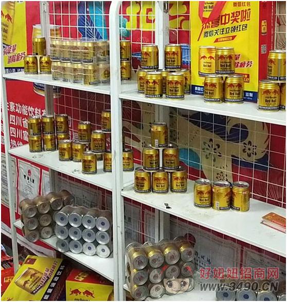 货架上的泰国红牛功能饮料