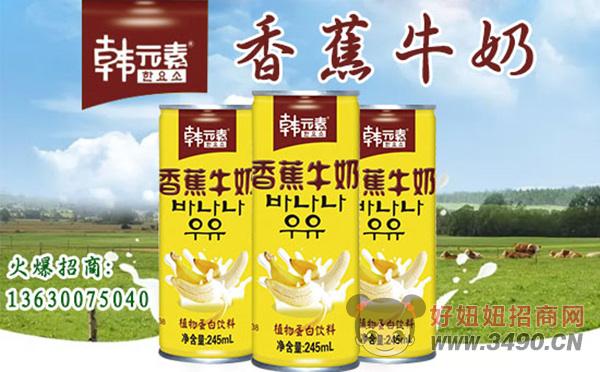韩元素香蕉牛奶