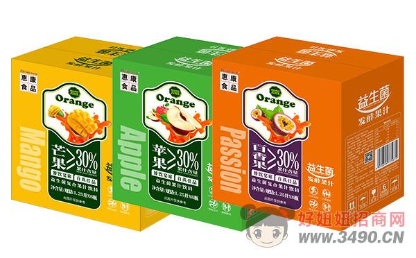 惠康益生菌发酵果汁1.25L×6瓶