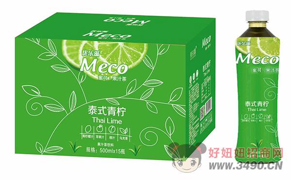 优乐滋蜜可泰式青柠果汁茶饮料500mlX15瓶