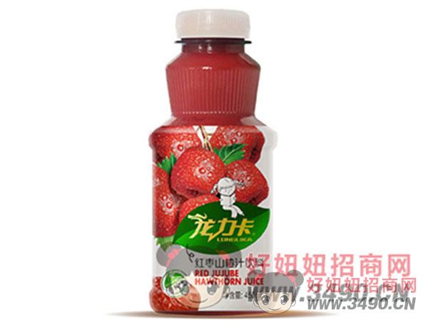 龙卡力冷榨型红枣山楂汁饮料450ml