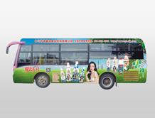 椰果派对车体广告