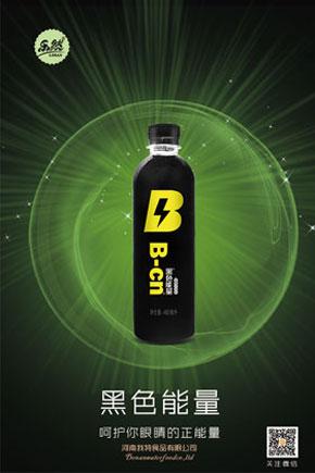 乐然黑水能量蓝莓汁饮料480ml瓶装