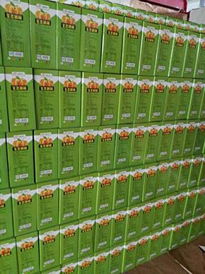 黄桃食品箱装