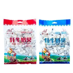 草原特�a 牦牛奶�奶片400克×2袋 原奶味+酸奶味 休�e零食