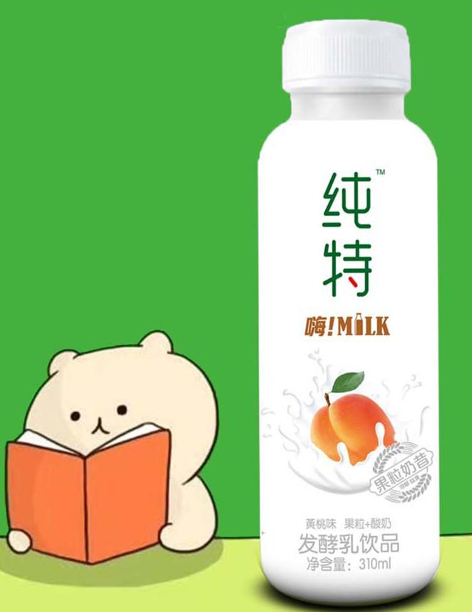 纯特果粒奶昔黄桃+椰果310ml