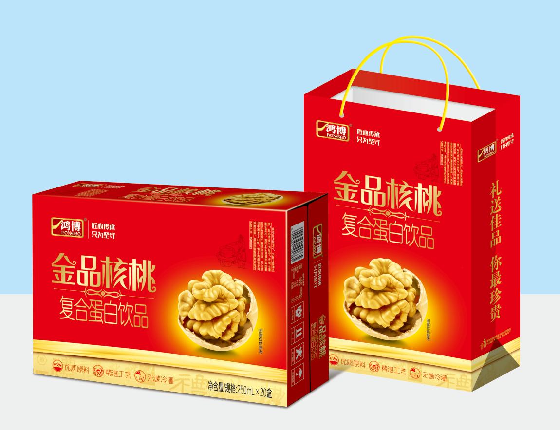 金品核桃复合蛋白饮品 厂家火爆招商中 山东鸿博