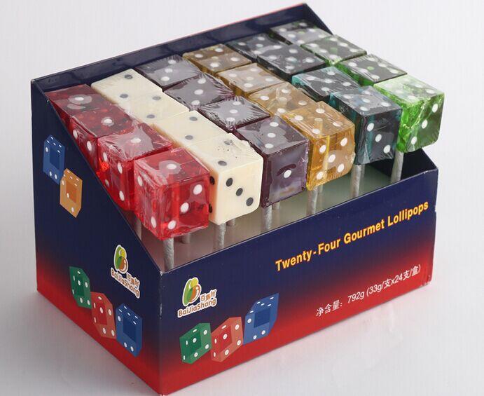 骰子糖、LED发光棒糖、造型棒糖