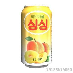 桃菠萝果肉果汁易拉罐