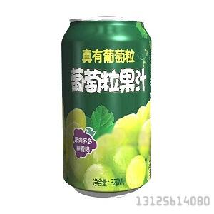 葡萄果肉果汁易拉罐