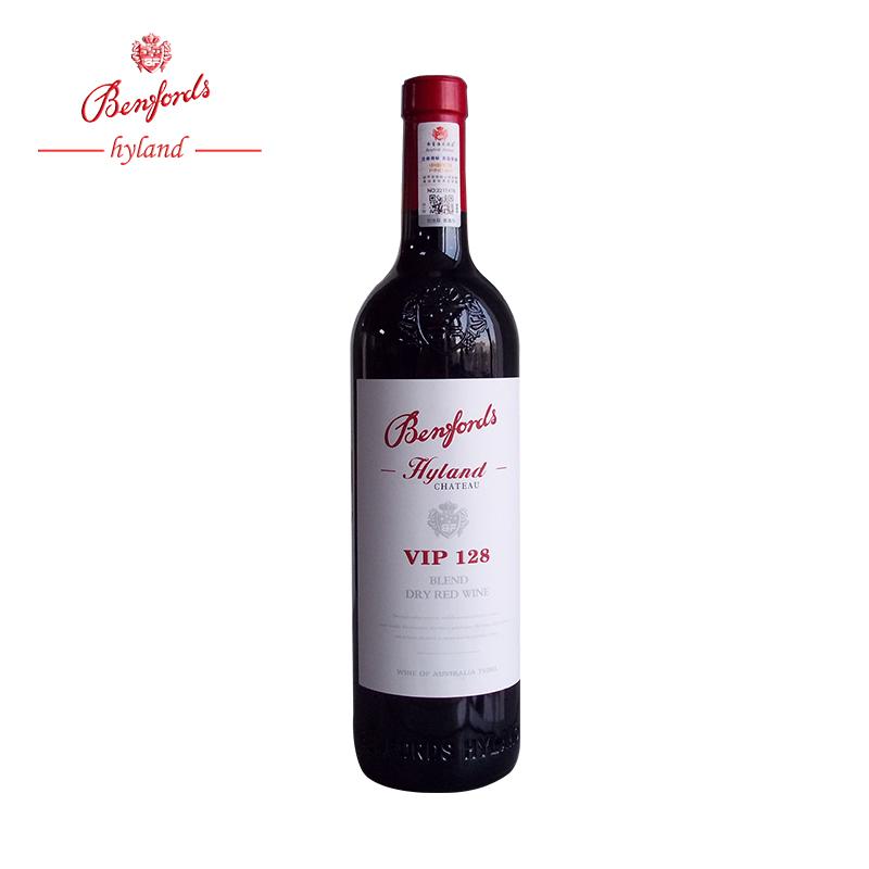 澳洲奔富VIP128干红葡萄酒原瓶原装进口红酒