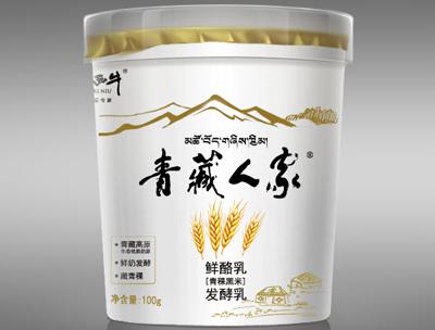 小西牛青藏人家鲜酪乳青稞黑米发酵乳