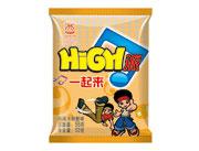 华夏百分HIGH派香辣大闸蟹味干吃面