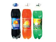力尔玛可乐、甜橙、柠檬碳酸饮料