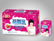 栗子园益酸乳(草莓味)牛奶果汁乳味饮品