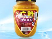 广野900g黄桃罐头