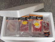 程岭带冰包装的五花肉