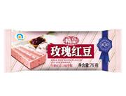 千层脆玫瑰红豆牛奶红豆味雪糕