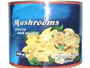 柏林蘑菇罐头2840g