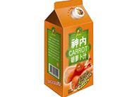 神内-500ml纸盒超浓低糖胡萝卜汁