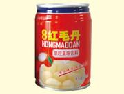 东方乐冰糖红毛丹果味饮料罐装
