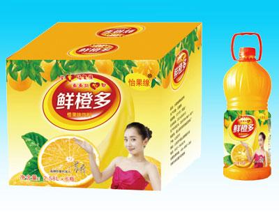 怡果缘鲜橙多橙果味饮料2.58LX6