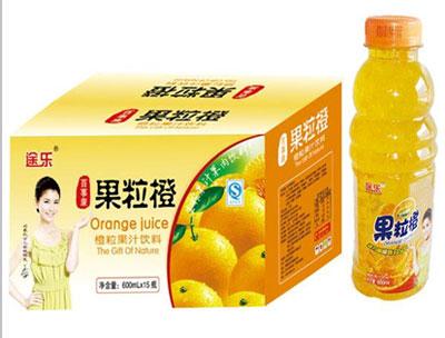 途乐果粒橙600mlx15瓶