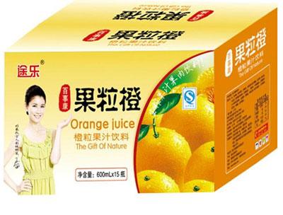 600mlx15瓶途乐果粒橙