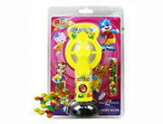 蓝猫儿童玩具糖果卡通动物手动风扇(黄)