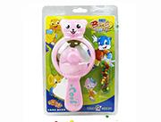 蓝猫儿童玩具糖果卡通动物手动风扇(粉红)