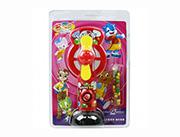 蓝猫儿童玩具糖果卡通动物手动风扇(紫)