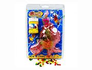蓝猫儿童玩具糖果小丑鱼泡泡枪(红)