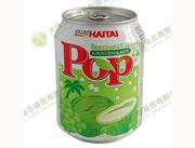 海太POP椰肉葡萄汁