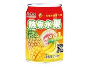 芒果树热带水果四合一果汁饮料