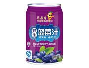 芒果树野生蓝莓汁250ml