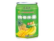 芒果树热带水果三合一果汁饮料罐装