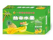 芒果树热带水果三合一果汁饮料箱装
