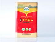 醇自然菜籽油一级3L铁罐装