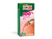 �R源100%桃汁1L盒�b