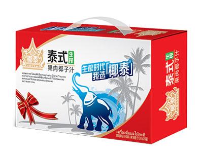 椰泰泰式生榨果肉椰子汁1L×12