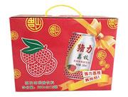 强力荔枝味碳酸饮料330mlx12罐