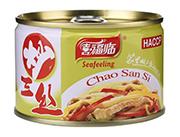 喜福临牌炒三丝罐头198g