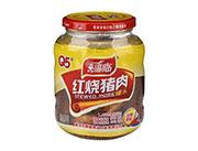 喜福临牌瓶装红烧猪肉罐头390g