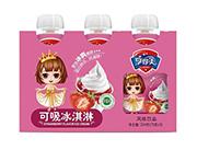 可吸冰淇淋草莓味风味饮料78g×3