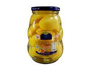 蒙康糖水桃罐头870g